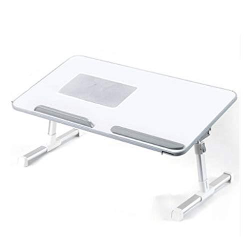 LZL Mesa Plegable Mesa de Bandeja portátil con Patas Plegables, Bandeja de Desayuno de Madera, Escritorio de Tableta para teléfono Inteligente para la Universidad en línea de tareas (Color : White)