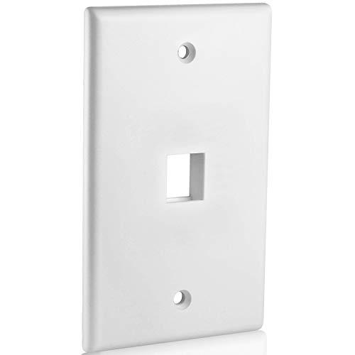 Mediabridge Keystone Wall Plate (1-Port, White) - 5 Pack (Part# 51W-101-5PK)