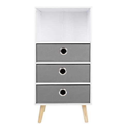 GXju- Furniture Estantería de 3 capas para habitación de los niños no tejida, estante de arreglo simple zapatero para dormitorio, estantería de madera maciza, gabinete de almacenamiento