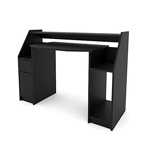 VICCO Computertisch Joel PC-Tisch Gamingtisch Schreibtisch Gamertisch (Schwarz)