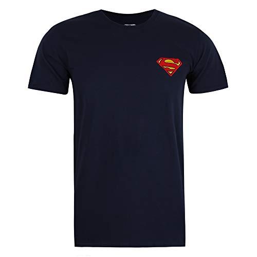 DC Comics Superman Core Camiseta, Azul Marino, XXL para Hombre