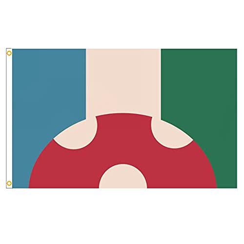 Lmanburg Flag Polyester Kinoko Kinoko Dream para la decoración al Aire Libre Decoración de la Pared Banderas Estilo2