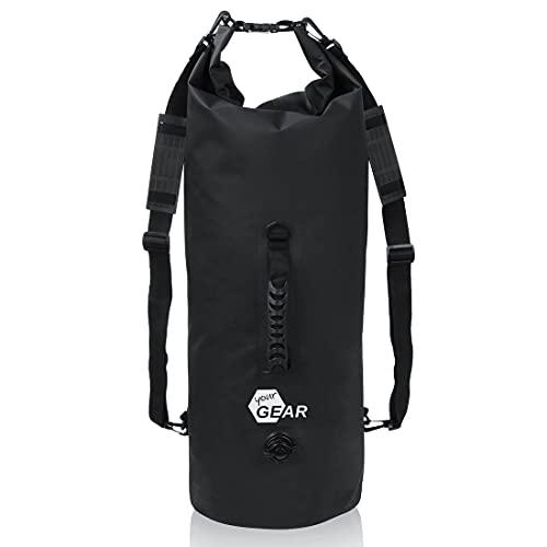 your GEAR Mochila Dry Bag de 20 l, 30 l, 50 l, impermeable, con correas para los hombros, asa y válvula para compresión/inflado, flotante [50L]