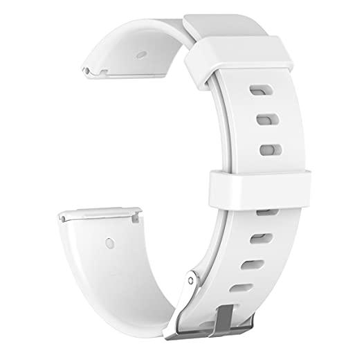 bansd Correa de Reloj de Silicona de Color sólido, Correa de muñeca de Moda para Hombres y Mujeres, Adecuada para Fitbit Versa Lite/Versa