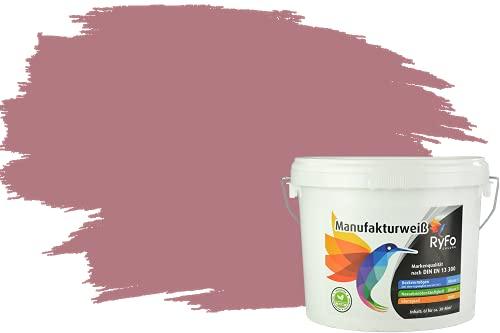 RyFo Colors Bunte Wandfarbe Manufakturweiß Herbstlila 3l - weitere Violett Farbtöne und Größen erhältlich, Deckkraft Klasse 1, Nassabrieb Klasse 1