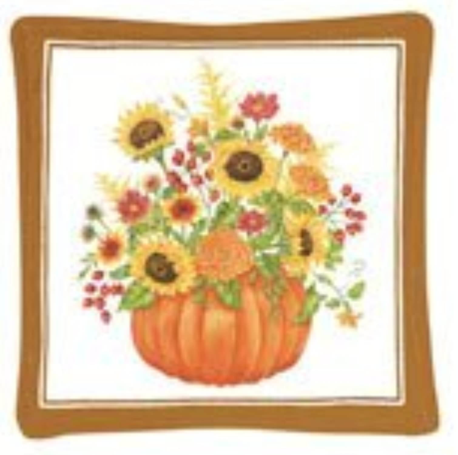 Alices Cottage Pumpkin Bouquet Single Mug Mat by Alice's Cottage