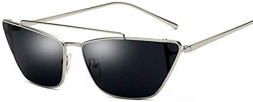 ZYIZEE Gafas de Sol Gafas de Sol de Ojo de Gato pequeñas con Montura metálica Gafas de Sol Retro para Mujer Gafas Uv400 para Mujer