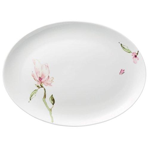 Rosenthal 61040-414124-12735 Jade Magnolie Platte oval 35 cm, 34 x 25 cm
