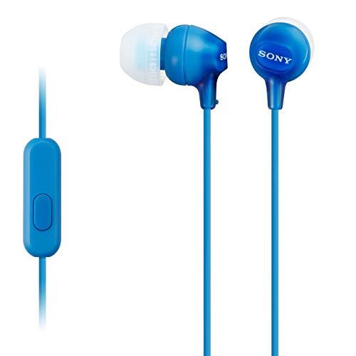 Sony MDREX15AP In-Ear-Kopfhörer mit Mikrofon, Blau