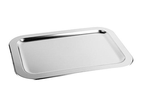 chg 6901AMAZ-56 Schlemmerplatte/Anrichtplatte, extra Starke Edelstahl rostfrei-Qualität 0,7 mm, ca. 42,0 x 31,0 cm