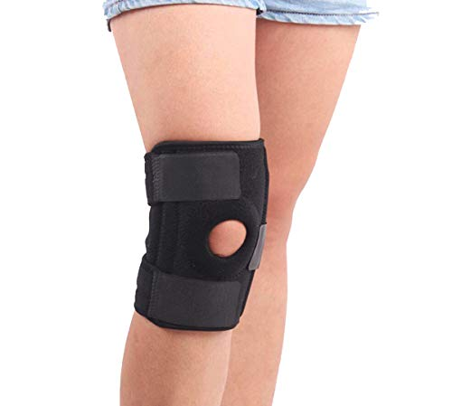 Knee Support, Open-Patella Brace for Arthritis, Joint Pain Relief, Knee Support Hinged Pad Men&Women Large Small with Adjustable Strapping & Breathable Neoprene (Universal Size)