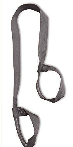 "Clever Yoga Mat Strap Sling Made with The Best, Durable Cotton – Comes with Our Special ""Namaste"" (Gray)"