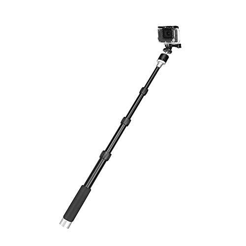Xusuyunchuang Negro 96cm Cámara portátil de Aluminio Monopod for GoPro héroe 8 7 5 4 Negro Xiaomi Yi 4K Canon DSLR H9 Selfie palillo de Cabeza de la Bola con