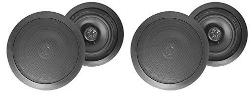 (4) Rockville HC85 8' Inch 700 Watt Black In-Ceiling Home Theater Speakers 8 Ohm