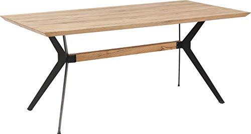 Kare Design Tisch Downtown, 180x190cm, Massiver Holztisch aus Eiche, großer Esstisch für 6 Personen, geölter Holzesstisch, Massivholztisch, (H/B/T) 78x180x90cm