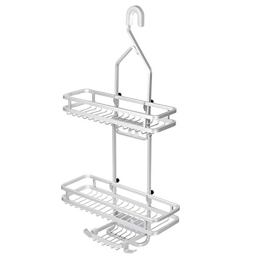 BetterMining Shower Caddy Rustproof Metal Wire Bathroom Hanging Shower Organizer Rack with Storage Basket for Shampoo Conditioner Towels Soap and More