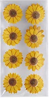 Recollections Sunflower 3D Layered Flower Stickers - 16pc