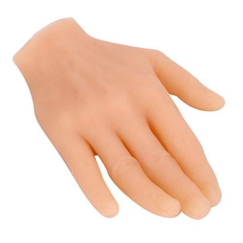 Main en silicone, facile à colorier main de pratique de tatouage, facile à utiliser, débutant, main masculine adulte pour artistes artistes moule à main similaire(Right hand)