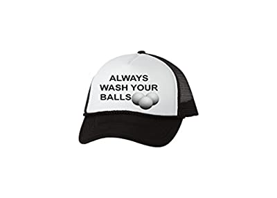 Rogue River Tactical Funny Golf Hat Always Wash Your Balls Trucker Baseball Cap Retro Vintage Golfers Gift