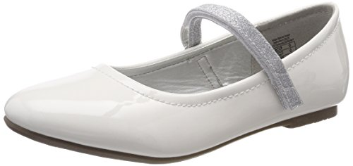Indigo Mädchen 424 080 Geschlossene Ballerinas, Weiß (White Patent), 34 EU
