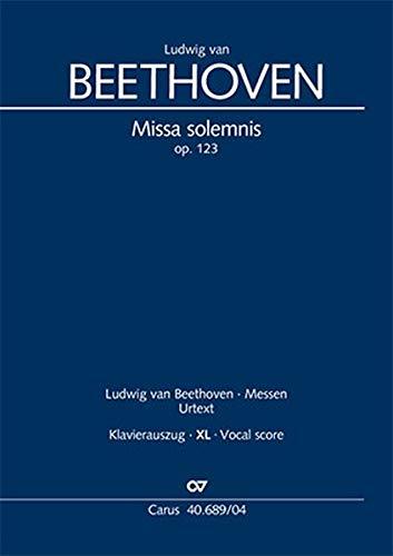 Missa solemnis (Klavierauszug XL): op. 123, 1817/23