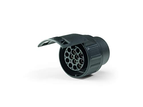 Westfalia Adapter 7- auf 13-polig - Für die Verbindung von PKW bzw. Anhängerkupplung mit 7-poliger Steckdose auf Anhänger mit 13-poligem Stecker