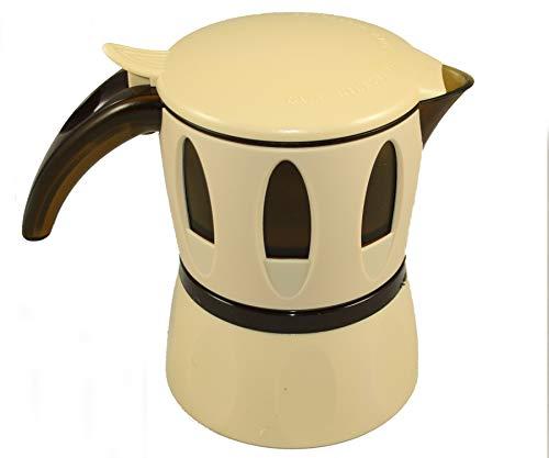 Caffettiera per Microonde Cesarita la Moka de I Cesaroni, caffè in Polvere o Cialde (Avorio)