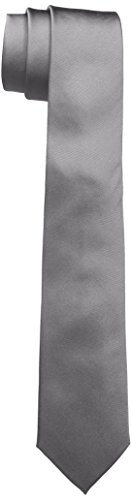 Calvin Klein Herren SLIM 6.4 cm Krawatte, Grau (Platinum 850), One size