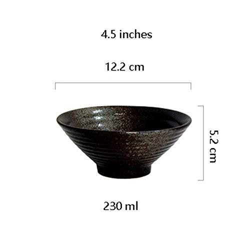 Canju Küchengeschirr/Geschirr/Outdoor/Camping Geschirr Stil Keramik Große Suppe Ramen Nudel Schüssel Kreative Instant Reis Kimchi Schüssel Set Ofen Mikrowellengeeignet Mischen Schüsseln Schwarz