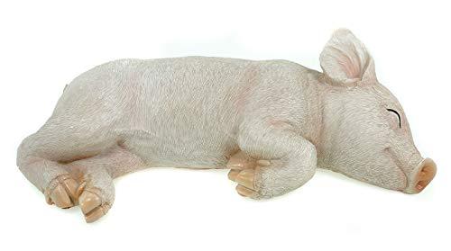 AM-Design Schweinchen schlafend Glücksschwein Schwein Gartenfigur Garten Figur Skulptur Tier Tierfigur