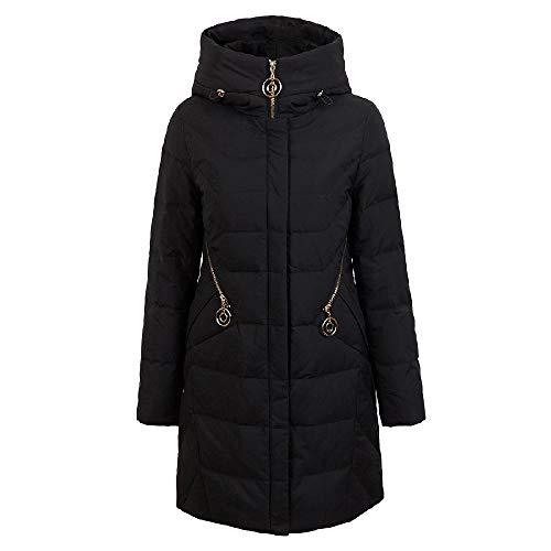 ZWHDS dames winter donsjas dunne dikke jas met capuchon vrouwen lange donsjas