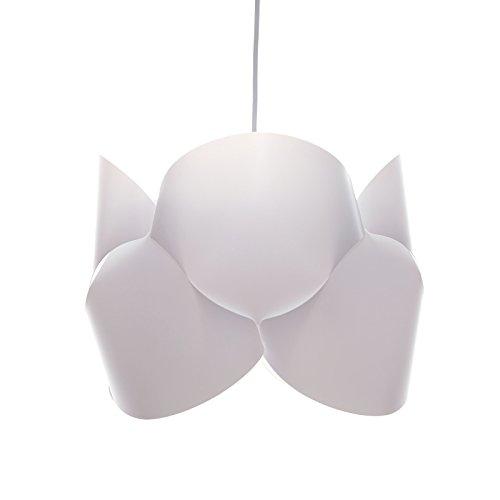 DESIGN DELIGHTS Suspension en Plastique BOUCLA Blanc Ø 37 cm, livrée en kit, éclairage
