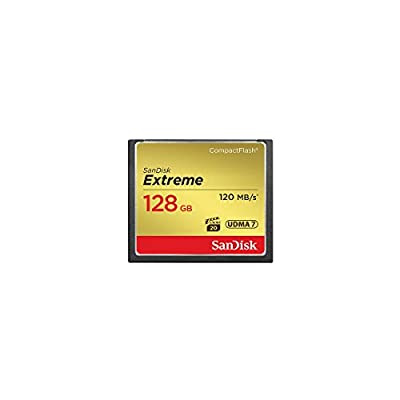 SanDisk 128GB Extreme Compact Flash Memory Card, Transfer Speed up to 120MB/s - Bundle Extreme 128GB UHS-I Class 10 U3 V30 SDXC Memory Card