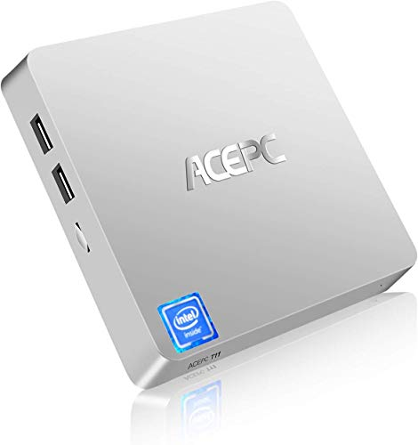 ACEPC T11 Micro Mini PC Intel Atom x5-Z8350 Senza Ventola Windows 10 Pro(64 bit) Desktop Computer 4GB DDR/64GB EMMC, Supporto 2,5'mSATA SSD/Dual Band WiFi/BT 4.2/4K/HDMI + VGA/1000Mbps LAN