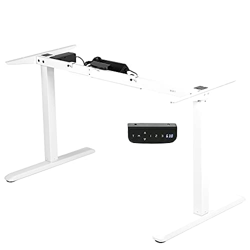 VIVO Electric Stand Up Desk Frame Workstation with Memory Touch Pad, Single Motor Ergonomic Standing...