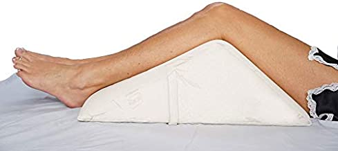 The Angle by Back Support Systems - Guaranteed to Help Reduce Back Pain Immediately. Eco Friendly, Medical Quality Memory Foam Bed Wedge Leg Pillow for Back Pain