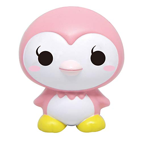 ibloom Little Penguins Cute Slow Rising Squishy Toy (Happy, Pink, Strawberry Scented) for Birthday Gifts, Party Favors, Stress Balls, Play at Home & Relieve Stress with Kawaii Squishies for Kids