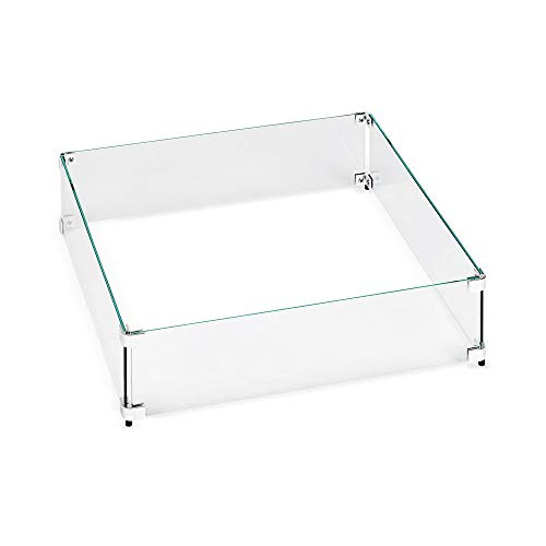 American Fireglass Tempered Glass Flame Guard for 12' Square Drop-In Fire Pit Pan