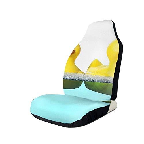 Gele eend in het zwembad autostoelhoezen beschermers voor de meeste auto's