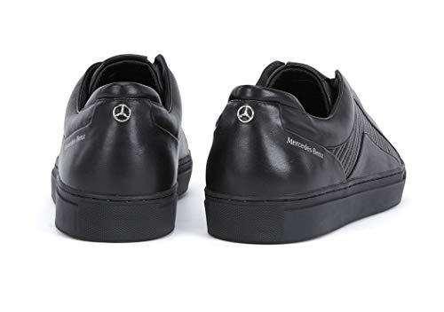 Nuevo Hugo Hombres Cuero Negro Mercedes Formula 1 F1 Entrenador Zapatillas De Conducción Tenn MTMB, color Negro, talla 42 1/3 EU