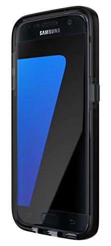 Tech21 Evo Check Schutzhülle Hülle Cover Widerstandsfähig Schlagfest mit FlexShock Technologie Aufprallschutz & Karomuster für Samsung Galaxy S7 - Smokey / Schwarz