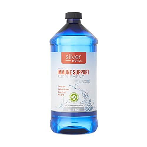 American Biotech Labs - Silver Biotics - Daily Immune Support Supplement with SilverSol Technology - 32 Fl Oz