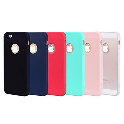3 Colori Cover Nokia 5.1, Yunbaozi Custodia Protettiva in Silicone Pelle Gelatina Flessibile TPU Case Cover Nokia 5.1 - Verde Rosso Rosa