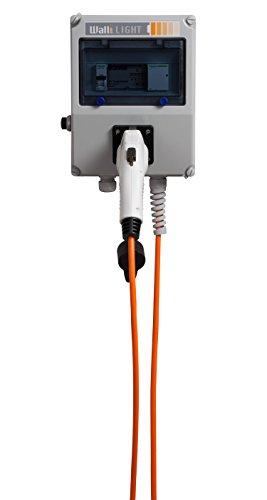 """Wallbox Ladesäule """"Walli LIGHT pro"""" 7,4 kW 32A 1-phasig Typ 1 Ladestecker mit 5 Meter Ladeleitung und integriertem Fehlerstromschutzschalter - 2"""