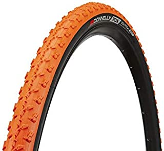 Donnelly Clement Cycling Cycling PDX Tubeless Tire | Mountain Road Bike Bicycle Tires | Racing Wheel Rim Cyclocross Commuter Touring | Size: 700cm x 32mm (Orange)
