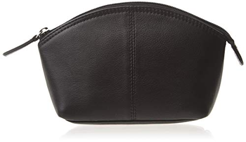 ili New York 6480 Leather Cosmetic Makeup Case (Black)
