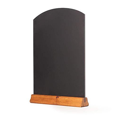 Chalkboards UK WC123F Tischkreidetafel mit Sockel, Holz, dunkle Eiche, A3, 42 x 30 x 4 cm