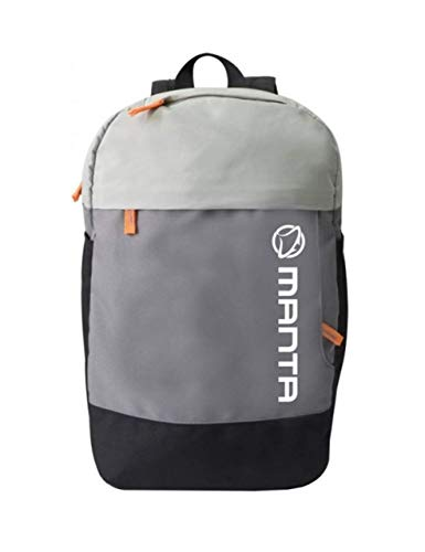 Manta MA131 Laptop Bag Backpack geschikt voor 15,6 inch laptop, Netbook, met tassen, grijs