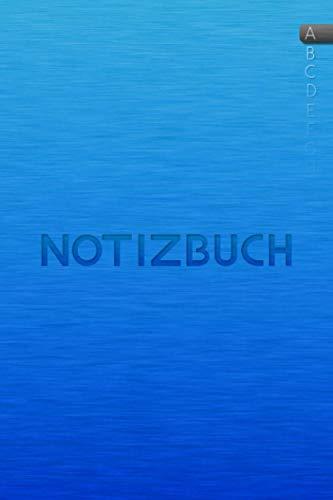 Notizbuch mit ABC Register: Notizbuch mit Buchstabenregister ca. A5 in BLAU | über 110 Seiten