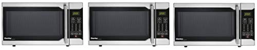 Danby Designer 0.7 Cu. Ft. 700W Countertop Microwave Oven in Stainless Steel (Pack of 3)